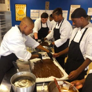 Ralph Bunche Culinary Arts Program students at work to fund summer internship in Oakland