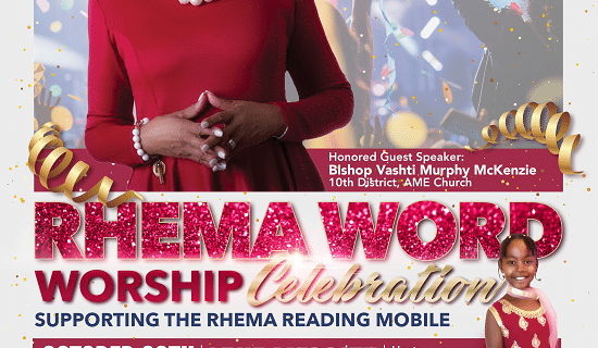 "Rhema's goal is to ""change generations through the LOVE of reading."""
