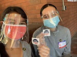 CareerBridge Inter Amber volunteers as a poll worker