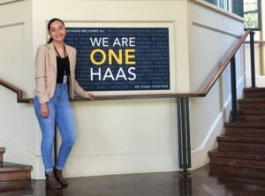 CareerBridge Intern Amber at Hass School of Business