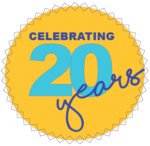 Celebrating 20 years white background
