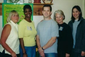 Diane Roth and volunteers